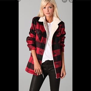 NWT TORN FLANNEL JACKET WITH FLEEXE LINING XS